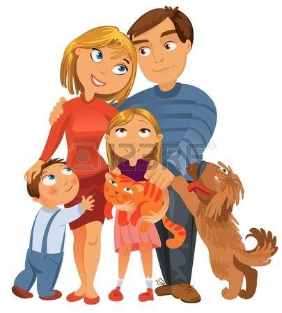 Stock Photo Familia Feliz Dibujo Familia Ilustracion Familia