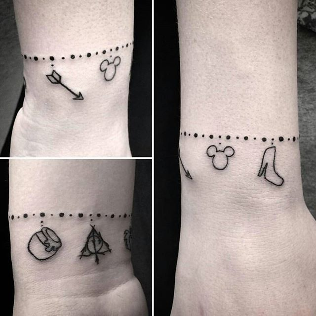 16 Cute Charm Bracelet Tattoos: Image Result For Charm Bracelet Tattoo Designs