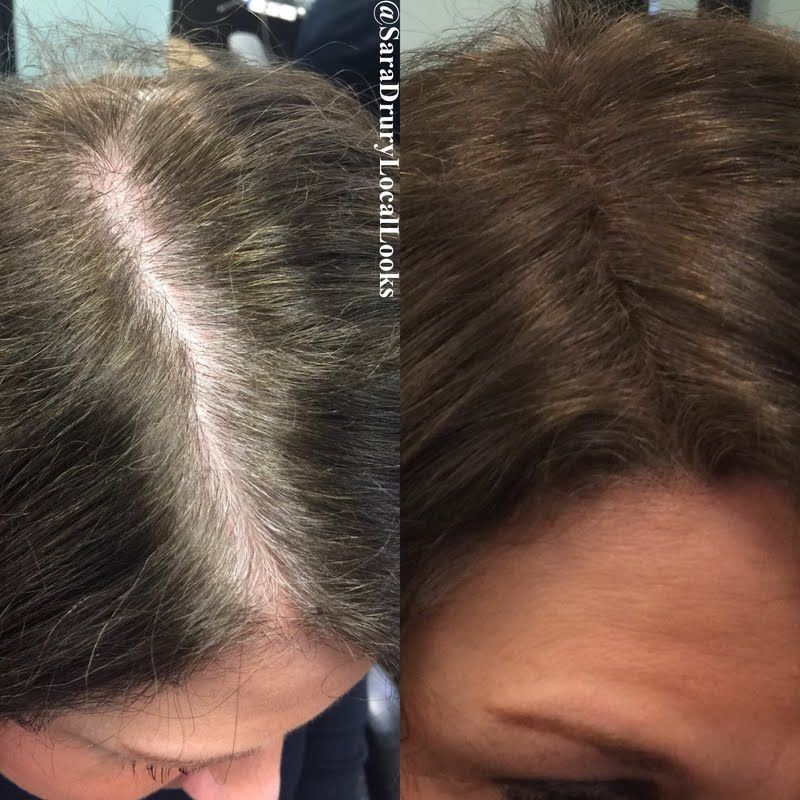 Touch-up those dark roots between coloring sessions conveniently ...