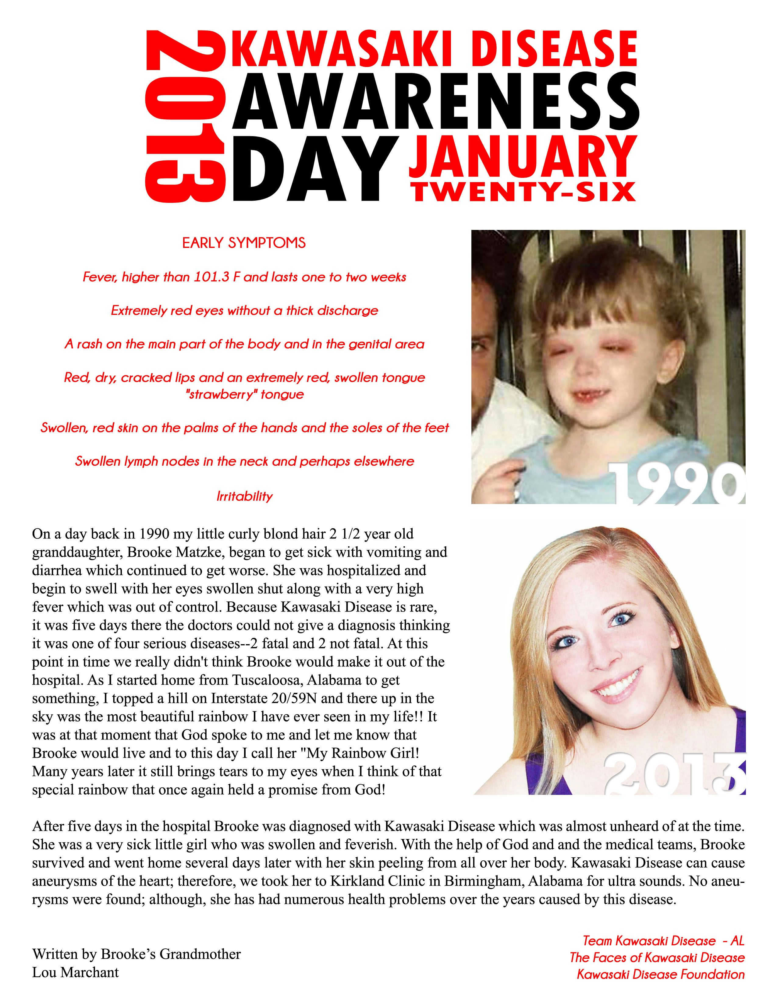 Wear Red Saturday 1 26 For Kawasaki Disease Awareness Day Kid S