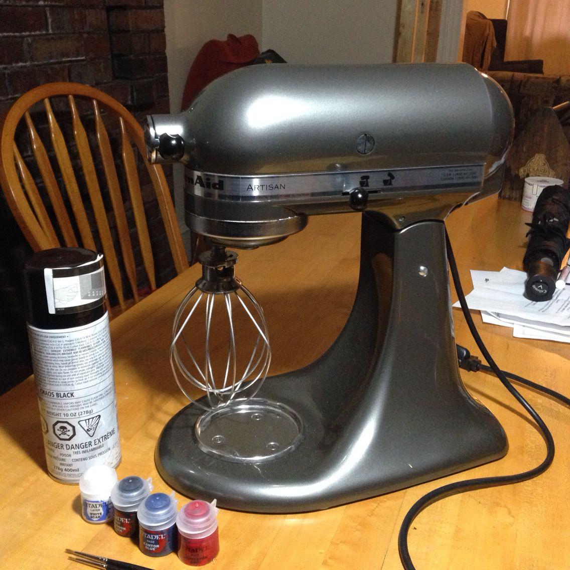 custom kitchenaid mixer paint job