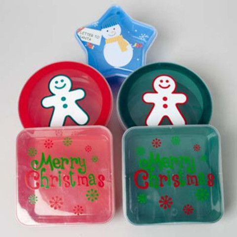 christmas food storage containers Case of 24 Products Pinterest