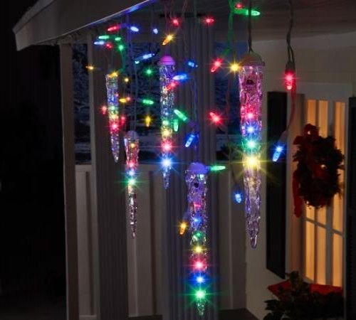 Icicle Christmas Lights Shooting Star Multi Color Indoor Outdoor Holiday Wedding Icicle Christmas Lights Hanging Christmas Lights Outdoor Christmas Lights