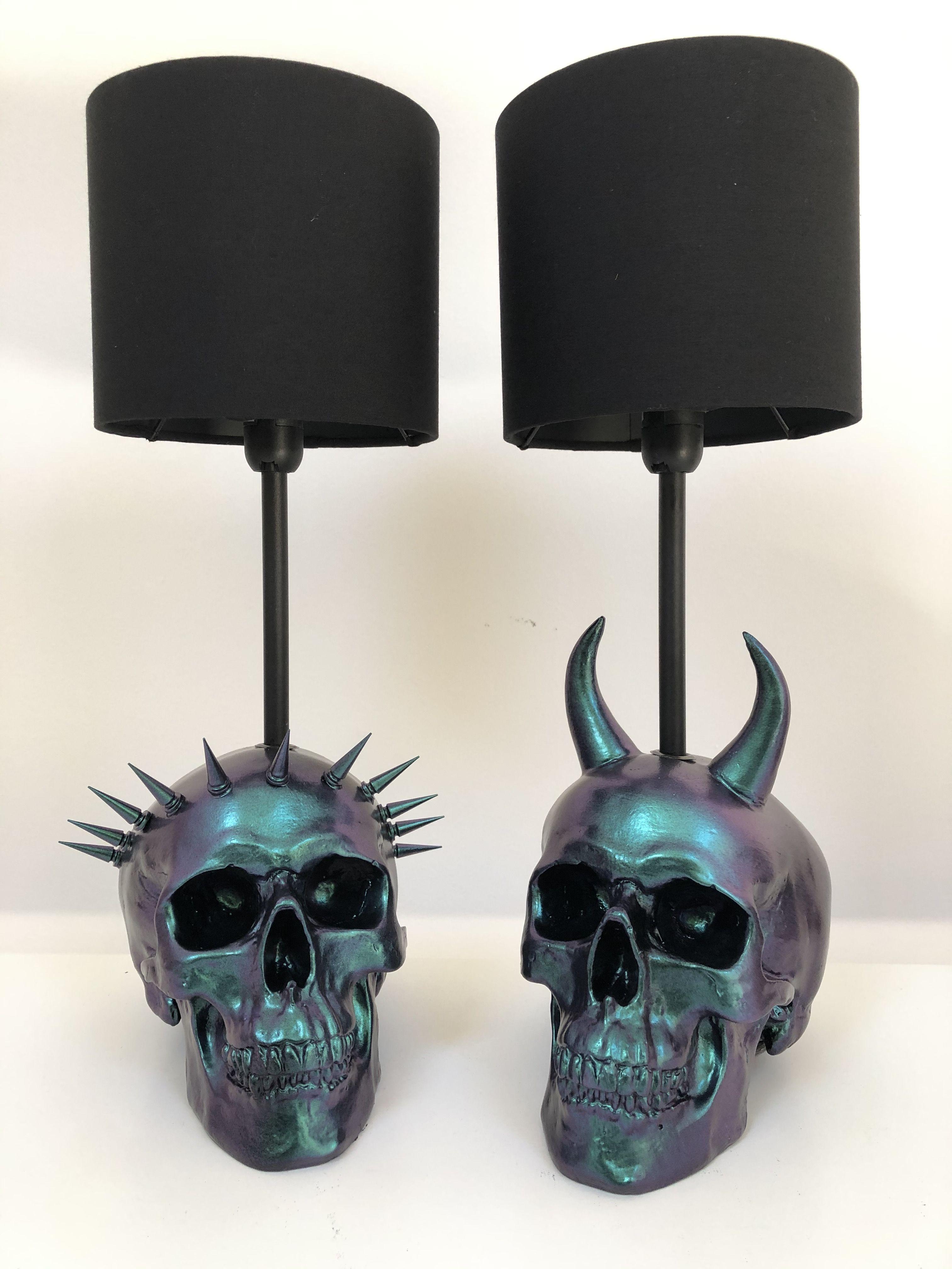 Liberty & Devil Colour Flip Skull Lamp - Skull Dec
