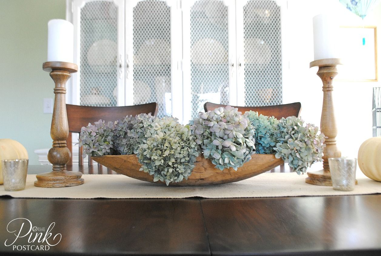 Happy Thursday Evening To You To All You Dough Bowl Lovers This Is Dining Room Table Centerpieces Kitchen Table Centerpiece Candles Dining Table Centerpiece