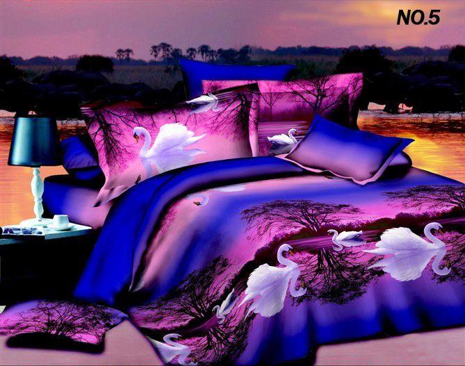 Unique Cheap 3d Oil Painting Bedding Set Comforter Set Peacock