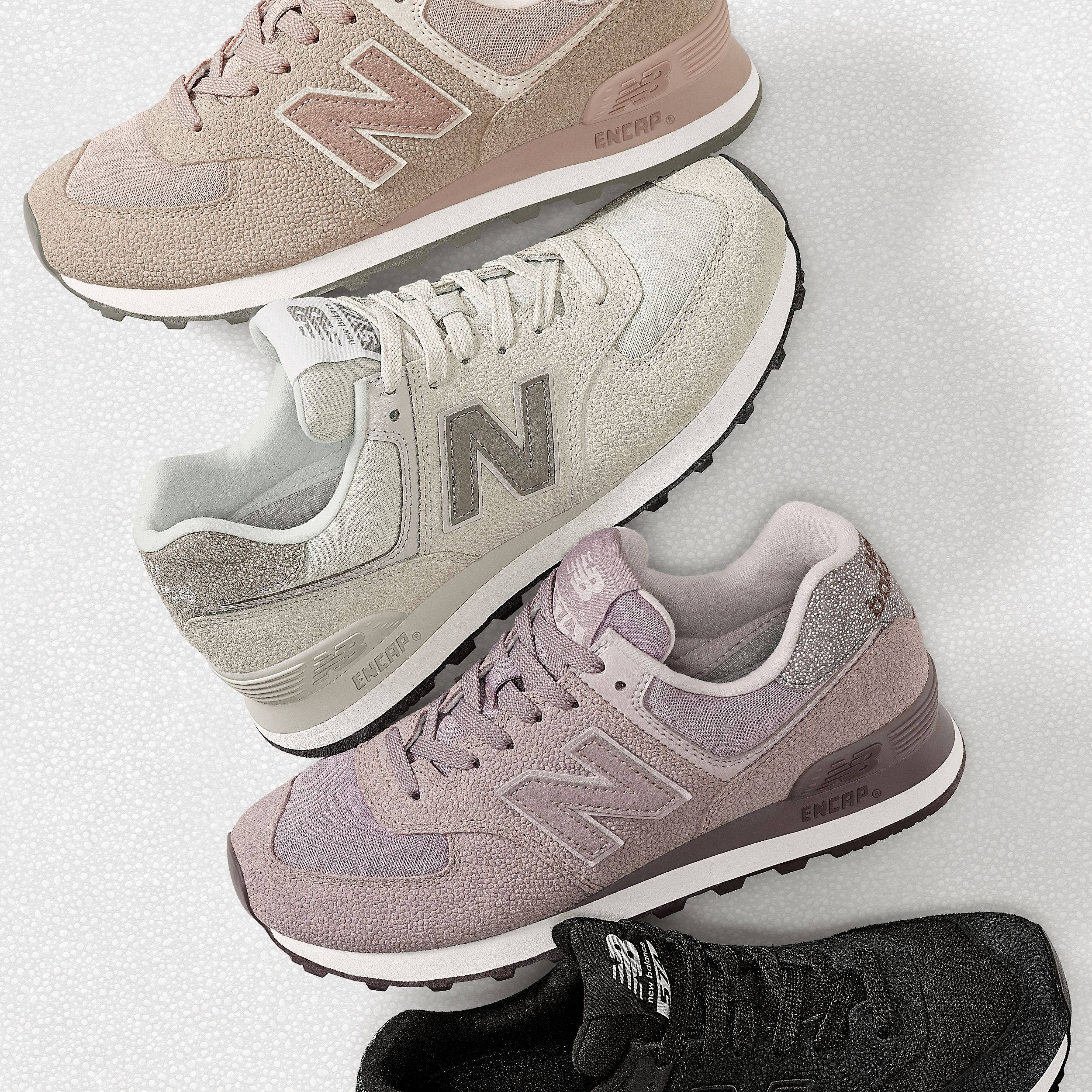 665ce866e323d The premium materials and craftsmanship you expect from New Balance come  together to create this subtle textural twist on our iconic 574 women's shoe .