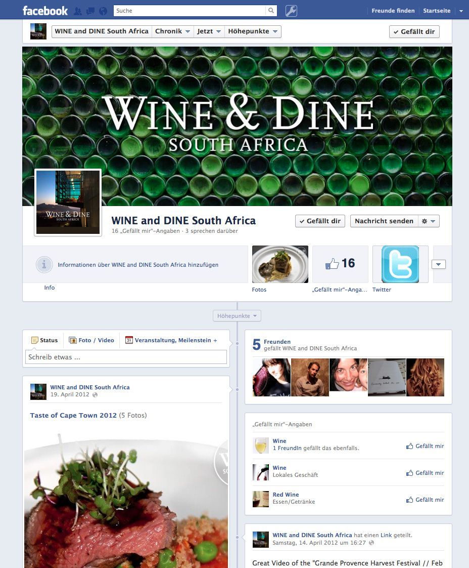 WINE & DINE South Africa on Facebook