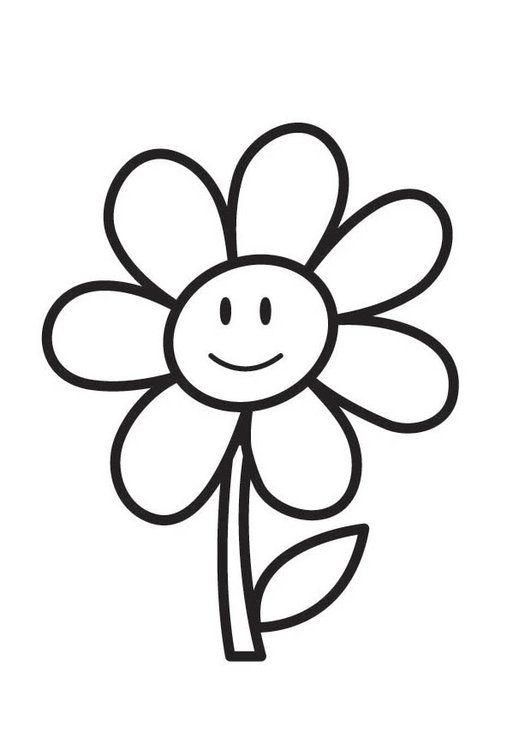 Dibujo para colorear flor | KP PLANTILLAS | Flower coloring pages ...