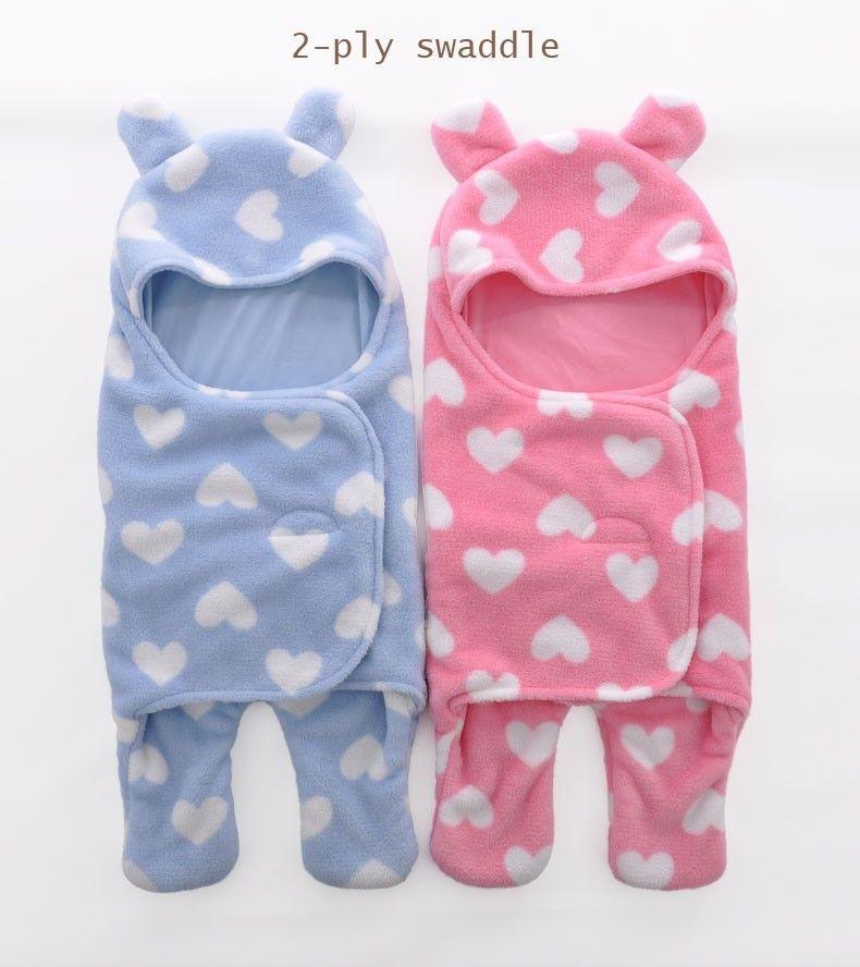 Sleeping Bag Sleepsack Baby Fleece For Stroller Ultra Light Cartoon Blankets Footed