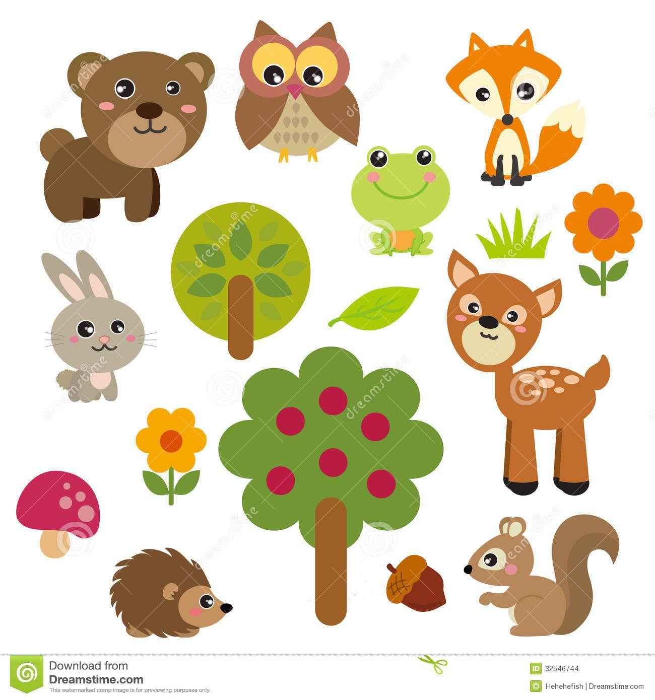 Realistic Woodland Animals Clipart Cliparthut Free Clipart Animal Clipart Cute Animal Clipart Cute Animal Illustration