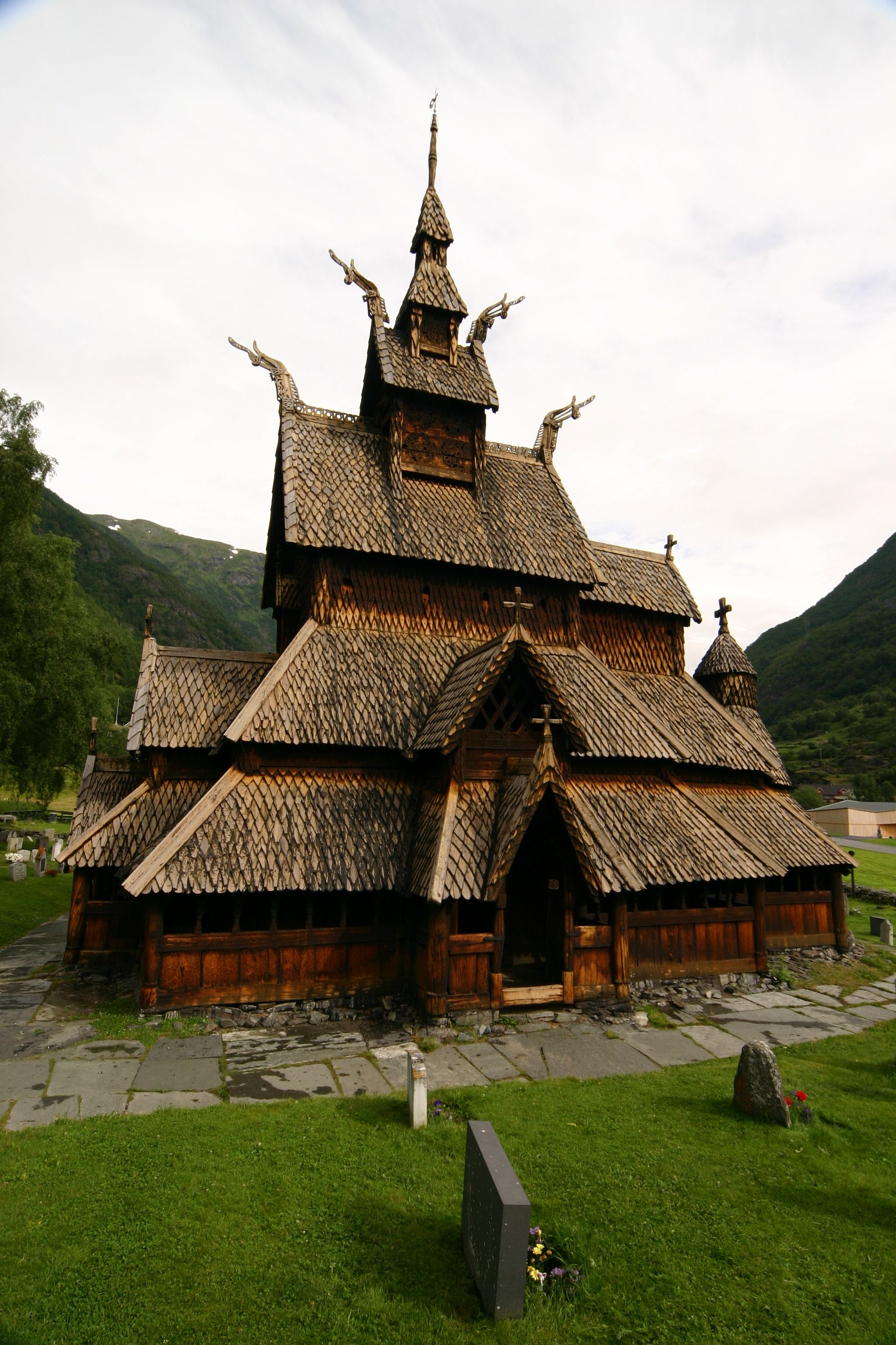 Stave Church In Norway Built In The Late 1100s When The Vikings Became Christians They Built Churc Ancient Buildings Ancient Architecture Place Of Worship