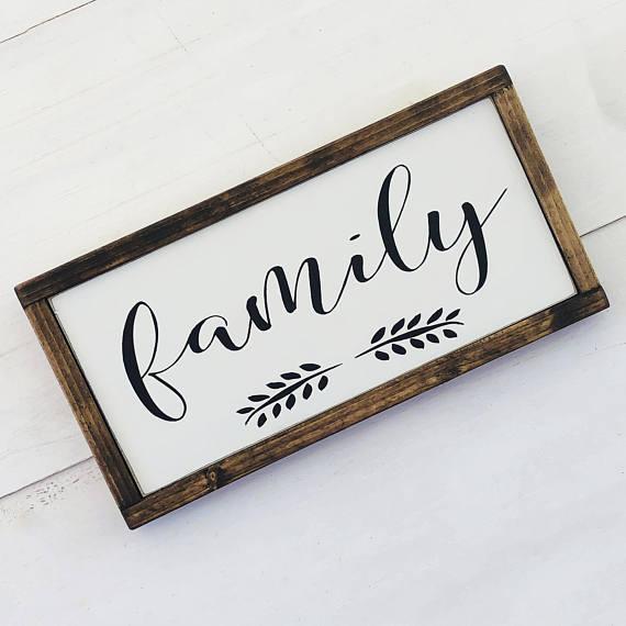 Family Sign Wood Family Wood Sign Framed Family Sign Farmhouse Wood Sign Farmhouse Family Sign Family Wood Signs Wooden Family Signs Wood Signs