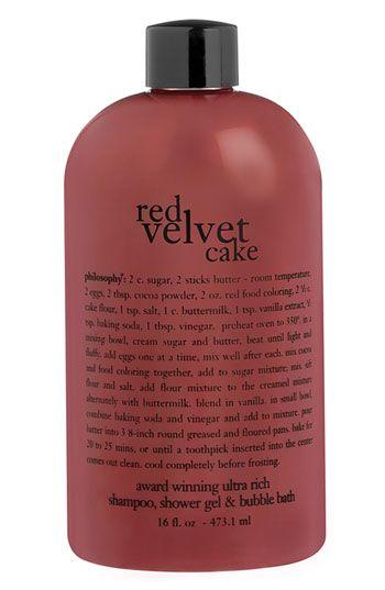 Philosophy Red Velvet Cake Shampoo Shower Gel Bubble Bath Nordstrom Red Velvet Cake Shower Gel Velvet Cake