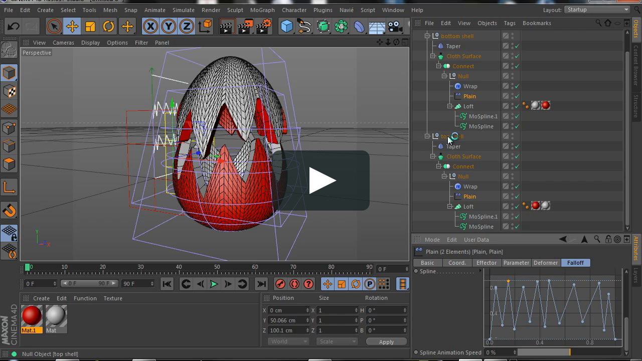 How to model a parametric cracked Easter egg with MoSpline