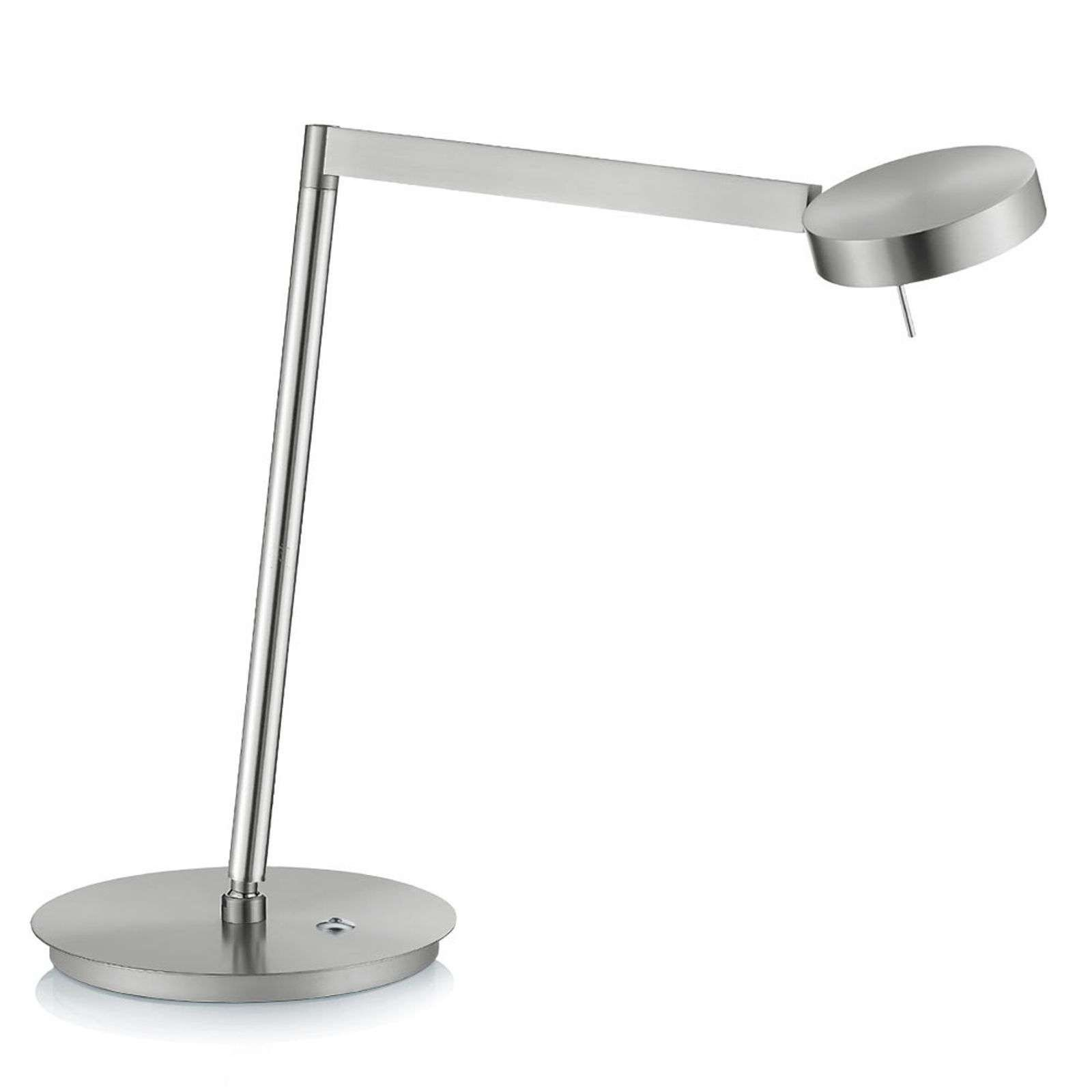 Lampe à Poser Led Reading Nickel Variateur Tactile En 2020 Lampe De Table Moderne Luminaire Led