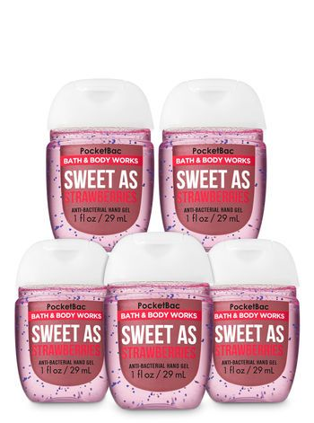 Bath Body Works Sweet As Strawberries Pocketbac Hand Sanitizers