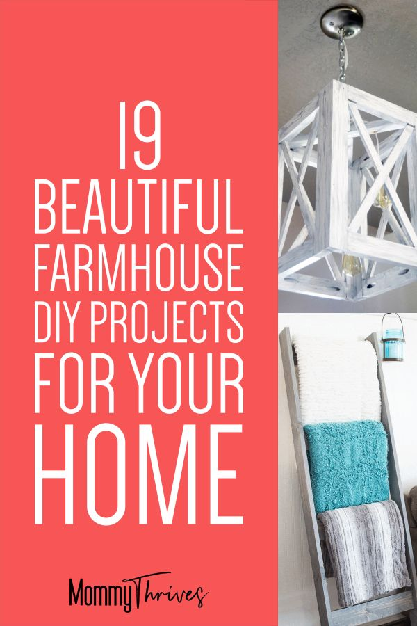 DIY Farmhouse Table, Sign, Furniture, and More Projects - Simple DIY Projects For Farmhouse Decor - Easy Farmhouse Decor DIY #farmhouse #homedecor #farmhousestyle #diy #farmhousediy #farmhousedecor #style #diyfarmhouse #decor #home #homestyle