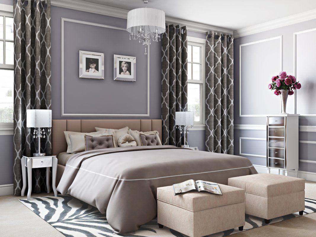 Glam Bedroom Design Photo by Wayfair  Sophisticated bedroom