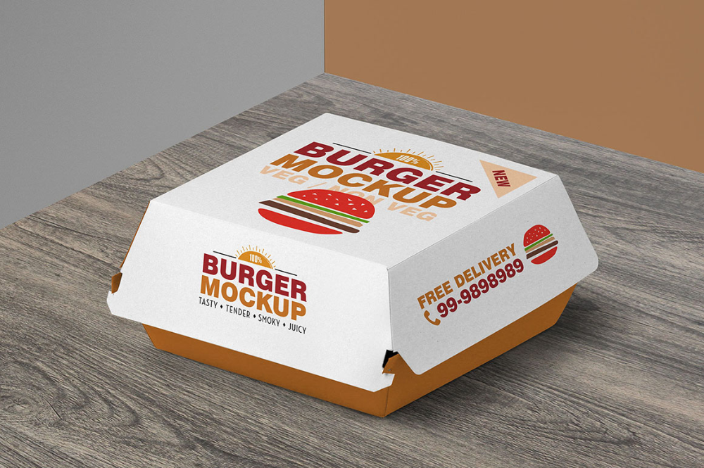 Download Burger Box Packaging Free Mockup Dealjumbo Com Discounted Design Bundles With Extended License Burger Box Burger Packaging Packaging Mockup