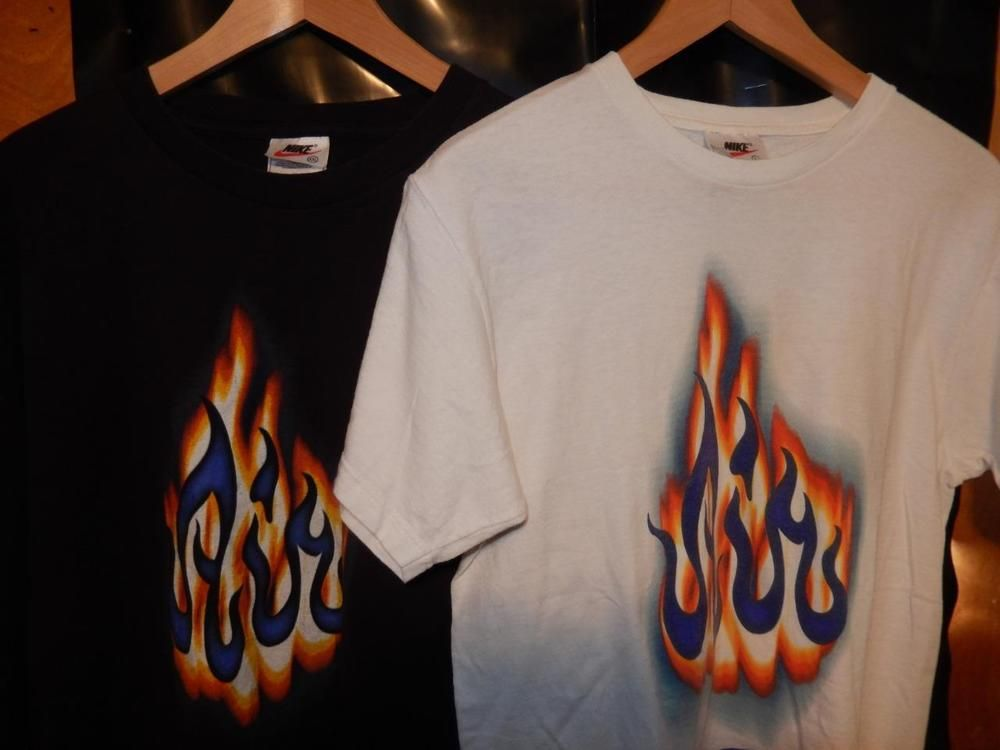 ef798171664e VTG OG 1997 Nike T-shirt Lot of 2 Air Bakin Allah T-shirts Black White 2XL  Yth L  Nike  GraphicTee