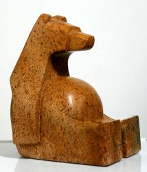 To dream the bear: the satiated sitting bear, Jason Carter, 12.5 x 10 x 9 inch, ***