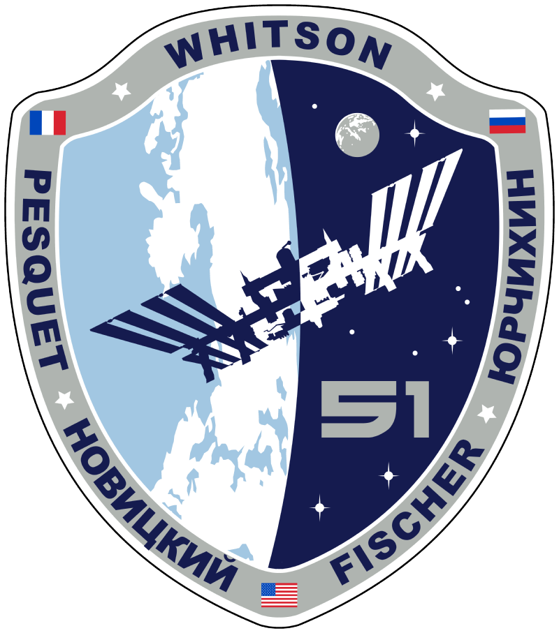 Official crew patch of Expedition 51 during their mission