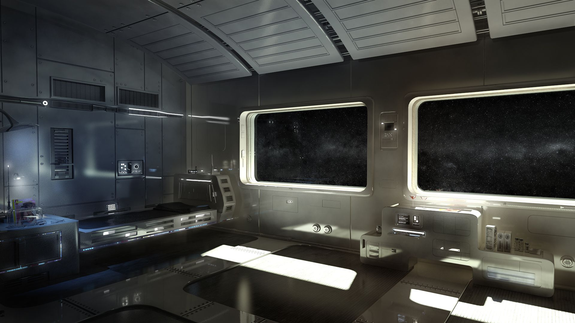 Black themed spaceship conceptual artwork and wallpapers 1 design - Spaceship Living Quarters Google Search Spaceships Interior Pinterest Spaceship Google Search And Google