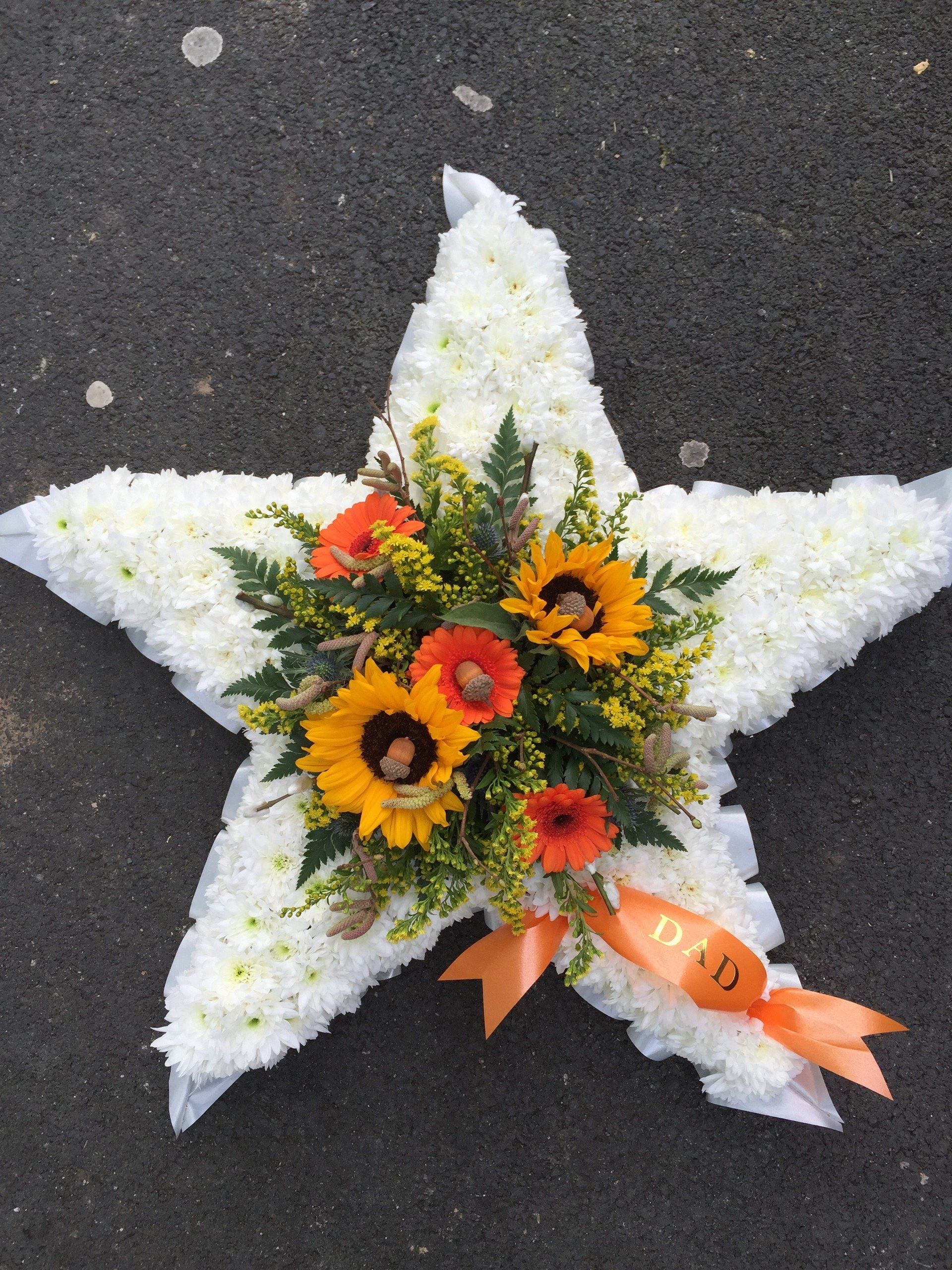 Image Result For Star Shaped Funeral Wreath Floristry Funeral Work