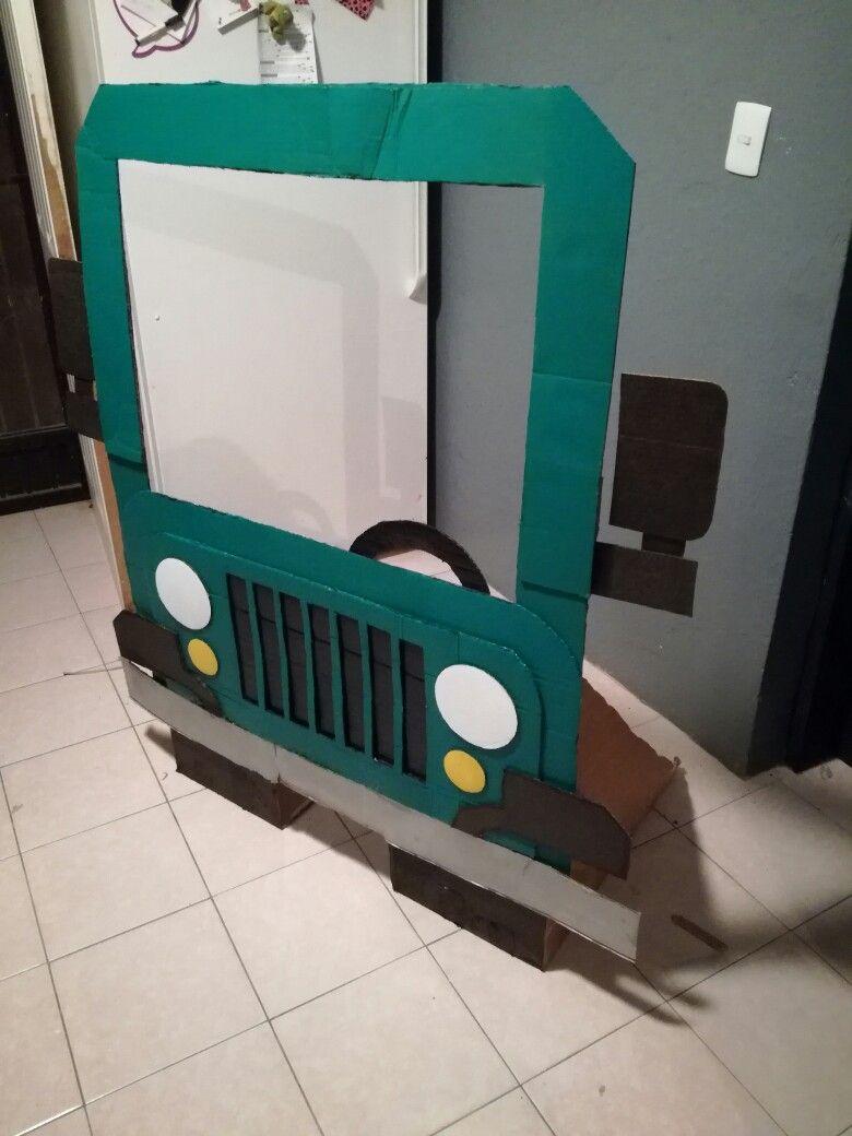 cardboard safari jeep