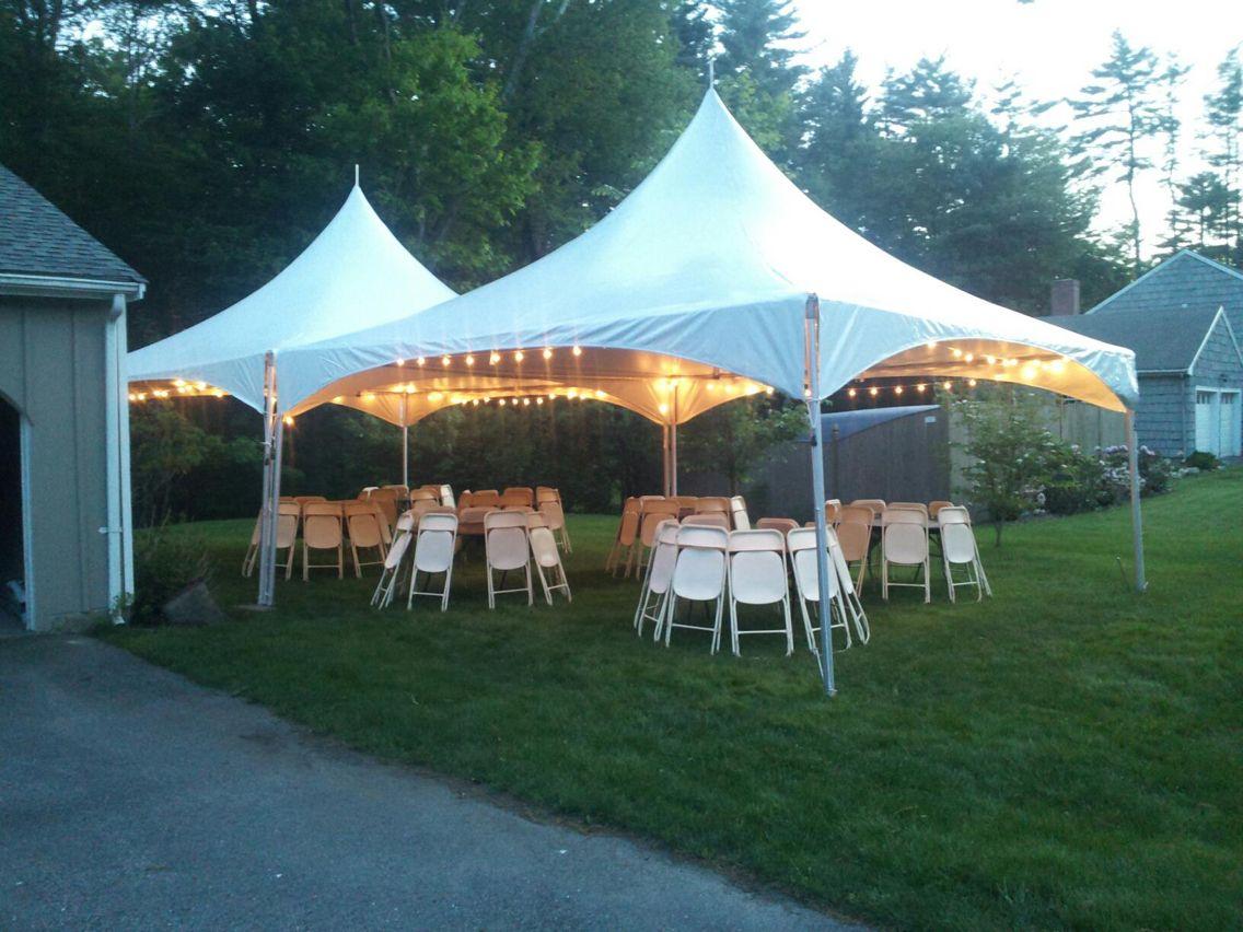 Tent party   Backyard tent, Party tent rentals, Backyard ...