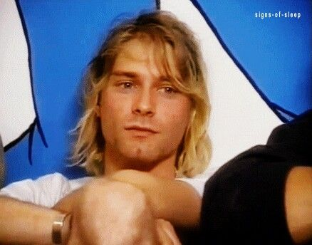 Kurt Cobain such a sweet face