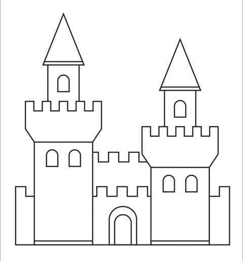замок шаблон схемы отрисовки рисовать шаблоны и раскраски