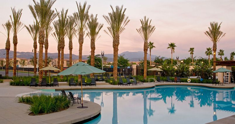 Resort style pool at woodbury lane apartment homes - Menzies hotel irvine swimming pool ...