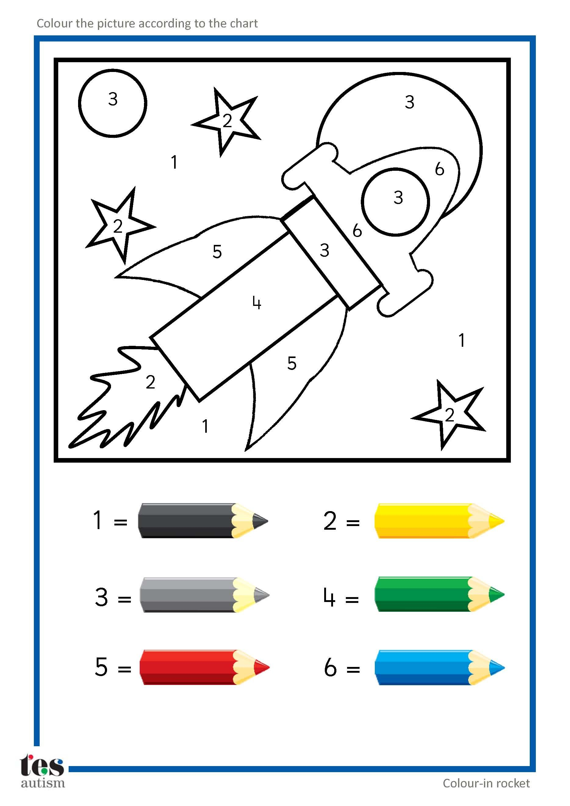 Color car number - Simple Colour By Numbers Pictures With Clear Visuals Fish And Seahorse Activities Use Four Colours