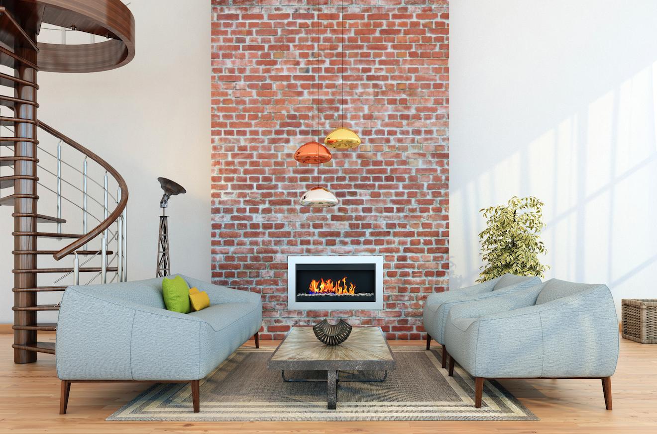 Room · Exposed Brick Modern Living ...