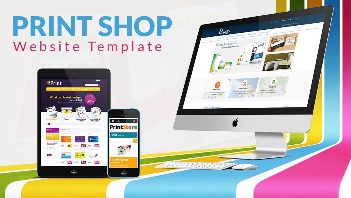 Print Shop Website Template See more at: http://printcart.com/blog ...