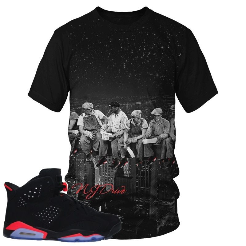 Air Jordan 6 Infrared Steelworkers Tee Shirt (Cut & Sew