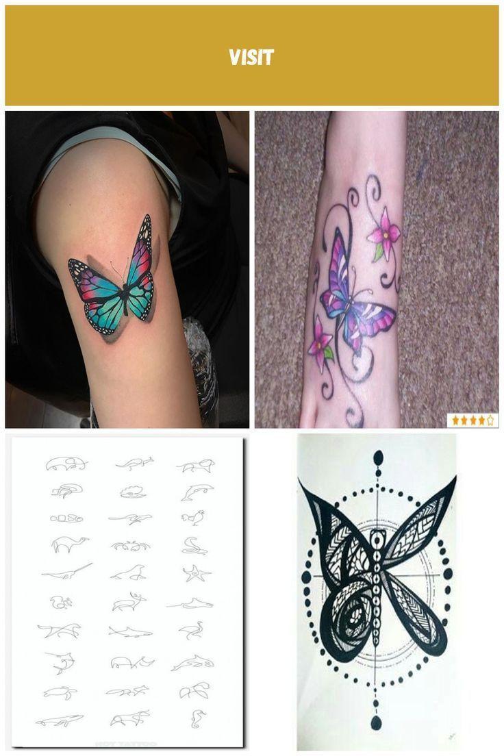 Photo of Tatuaggio farfalla multicolor su mezza manica: tatuaggi farfalla – # mezzo burro…