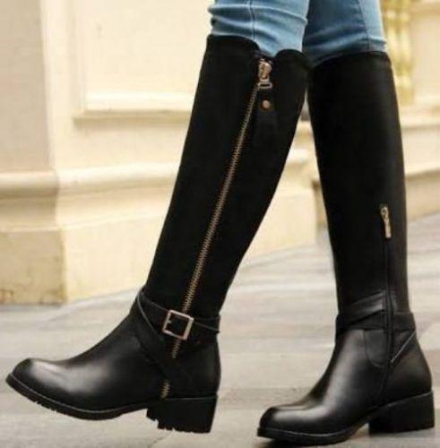 lange schwarze Stiefel – Minimalistische modische Stiefel www.justtrendygir …   – Trendy shoes and boots