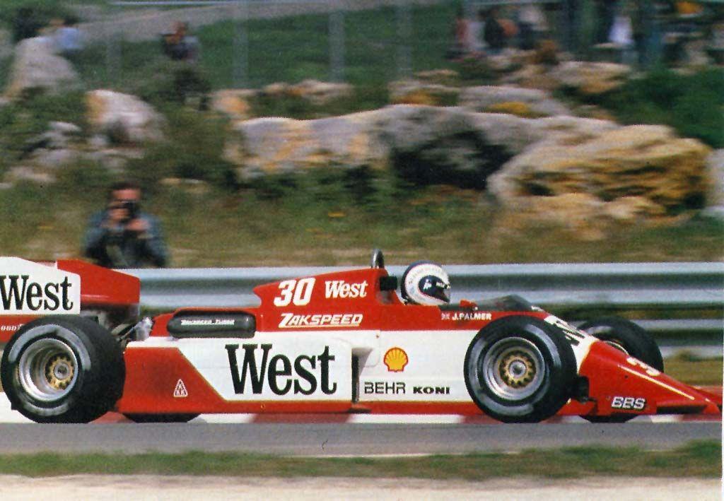 Risultati immagini per f1 1985 Jonathan Palmer, Estoril 1985,-------auto Zakspeed 841