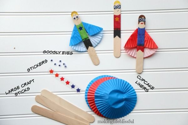 Incredibles Superhero Craft #superherocrafts