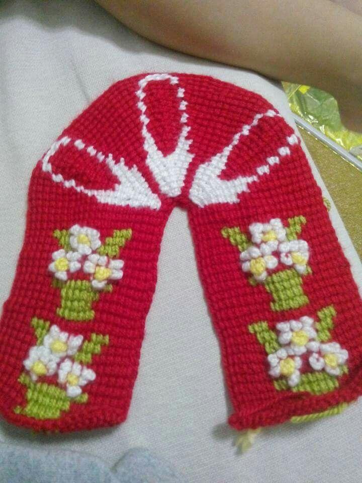 Pin de ljajic en Slippers knit | Pinterest | Patrones