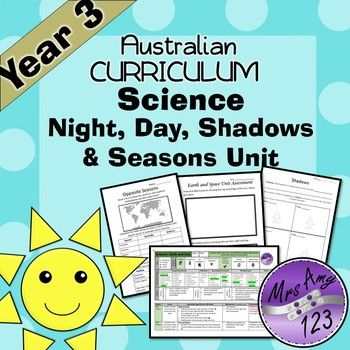 Science- Earth and Space Year 3 Unit - Night, Day, Shadows and ...