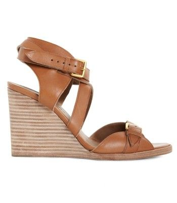 Hermes Giorno Sandals  Sandal in brown calfskin featuring an albion brushed gold buckle. $1,450.00 ♥ #ColorTheory