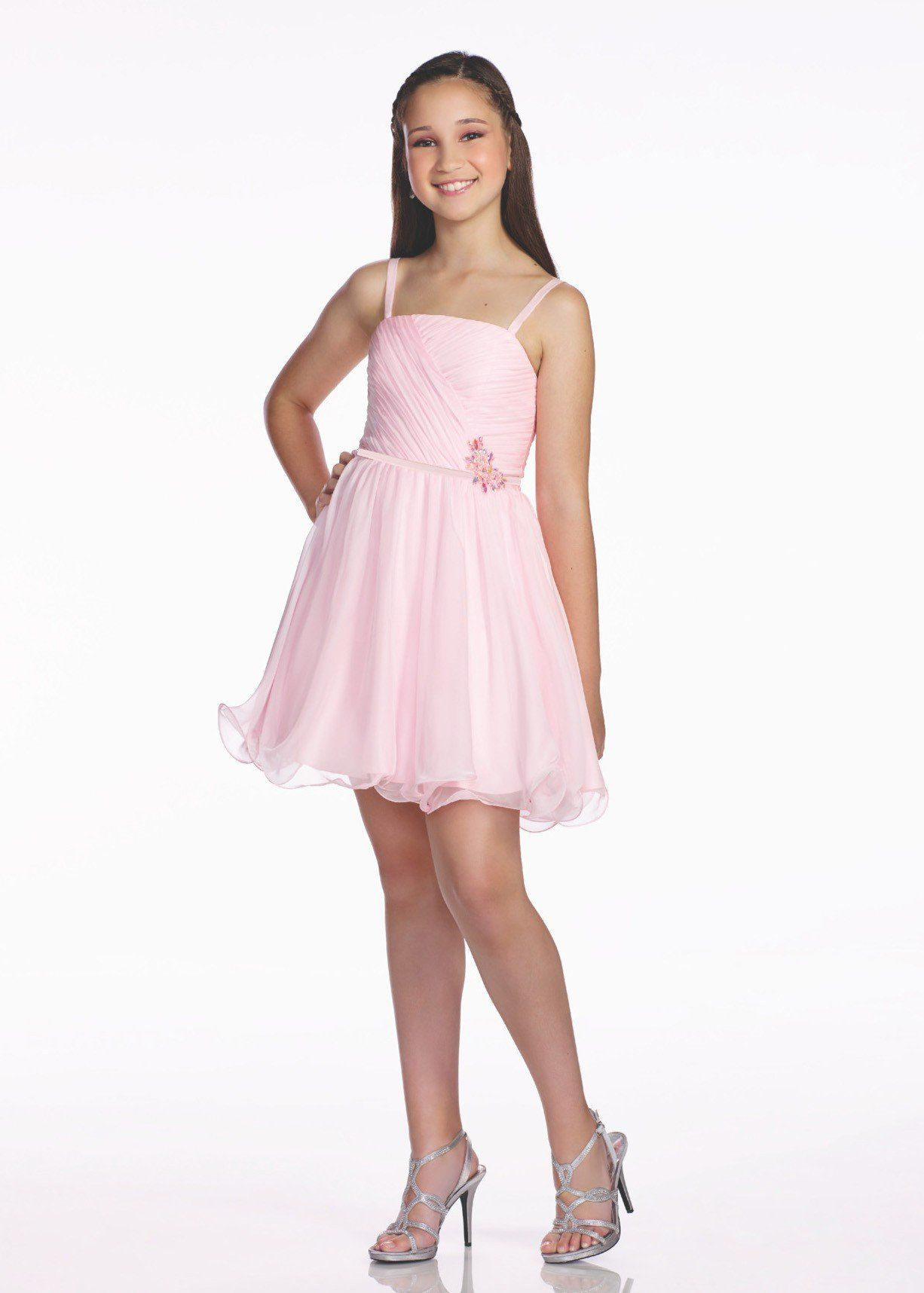 0b7f40c5a91 Lexie by Mon Cheri TW11656 Girls Ruched A-Line Dress in 2019 ...