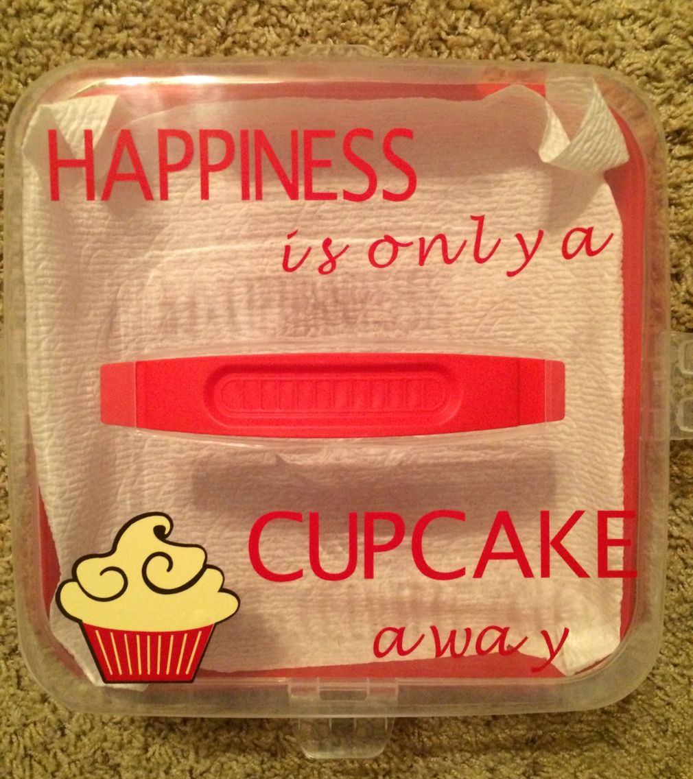 Cupcake carrier cupcake carrier vinyl gifts cake carrier