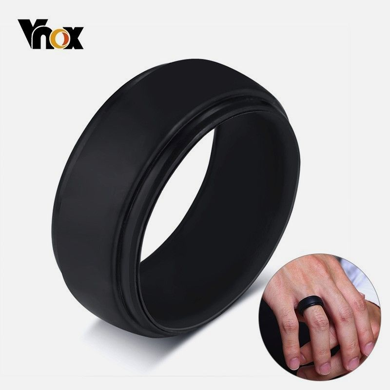Affordable Silicone Rubber Wedding Bands For Men Women Rings Black White Color Casual Anel Rubber Wedding Band Black Rings Mens Wedding Bands