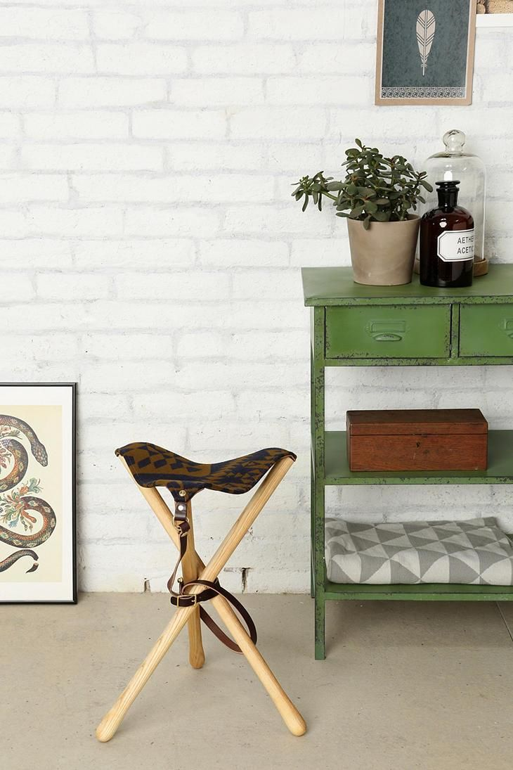 Pendleton camp stool with belt-strap for easy portability. #urbanoutfitters