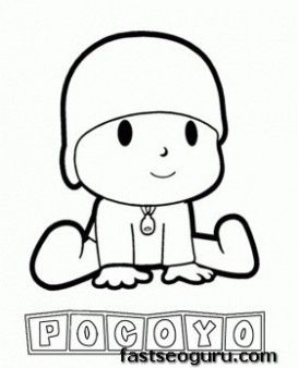 Main Characters Cartoon Pocoyo Coloring Pages Printable Coloring Pages For Kids Baby Coloring Pages Coloring Pages For Kids Pocoyo